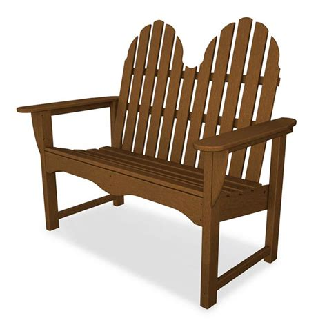 adirondack loveseat bench made from colored recycled