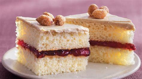 peanut butter  jelly cake bites recipe tablespooncom