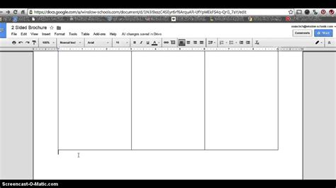 Tri Fold Take Out Menu Template Google Docs Deli by How To Make 2 Sided Brochure With Google Docs Youtube