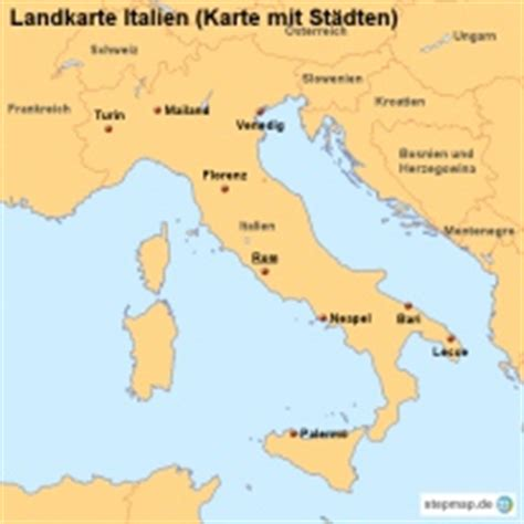 stepmap landkarten und karten zu italien