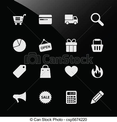 Ecommerce shopping web icons. A set of ecommerce icon with ...
