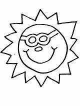 Sun Summer Coloring Sunglasses Pages Getcoloringpages Printable Preschool sketch template