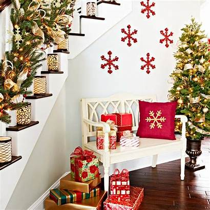 Indoor Christmas Decoration Stairway Creation Homebnc