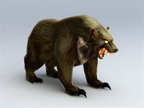 mutated monster bear  model ds max files