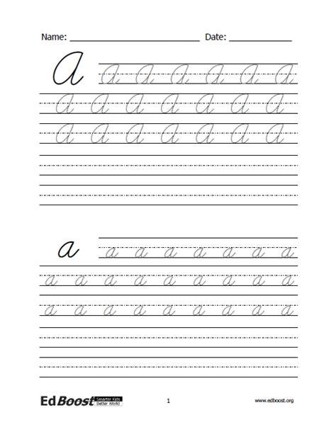 Letters  Cursive Practice  Letters And Words Edboost