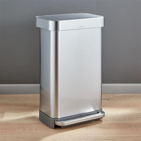 simplehuman  liter gallon stainless steel step