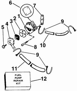 Fuel Pump Parts For 1987 4hp J4rcud Outboard Motor