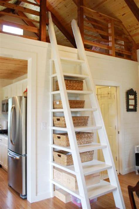 steps  ladder ideas   tiny house sacred habitats tiny cottage