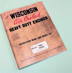 Wisconsin Vh4 Vh4d Engine Service Repair Instruction