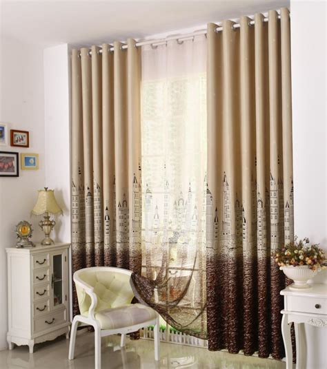 2015 real 100 polyester printed window curtains for blinds
