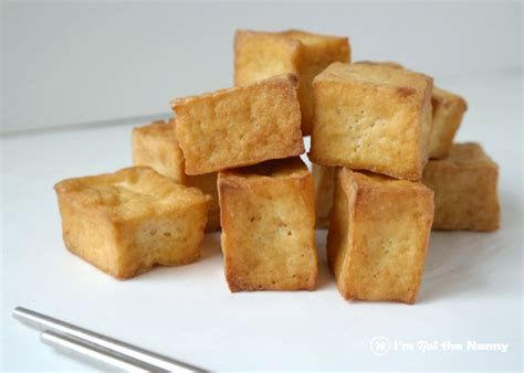 fried tofu how to make crispy pan fried tofu i m not the nanny