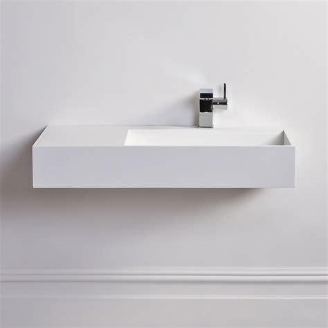 lusso stone veno large stone resin wall hung basin