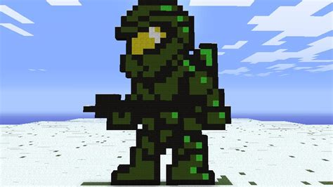 Halo Pixel Art Minecraft Project