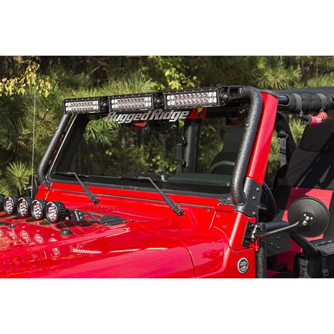 rugged ridge  windshield light bar kit