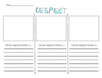 respect worksheet by peace works teachers pay teachers