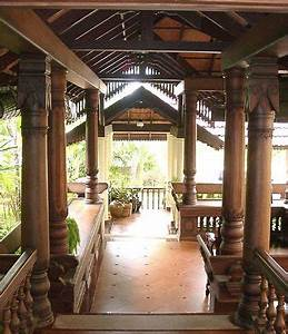Verandah, Located, At, The, Front, Of, A, Traditional, Kerala, House