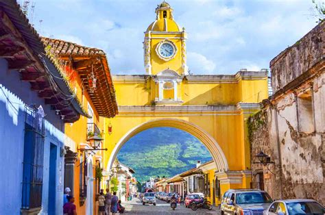 Santa Catalina Arch Yellow Arch In Antigua Guatemala
