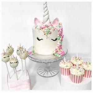 Unicorn Cake, cake pops and cupcakes - Three Sweeties