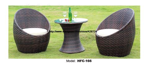 creative rattan glass table chair table set