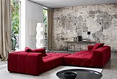 rotes sofa - 80 fantastische modelle - archzine.net. wohndesign ... - Wohnzimmer Ideen Rote Couch