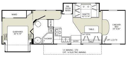 Fleetwood Class C Rv Floor Plans by Class C Rv Floor Plans Fleetwood Tioga Class C Motorhome