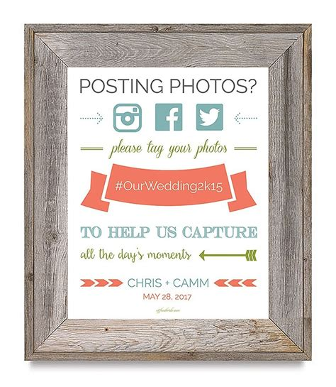 super cute  printable wedding hashtag sign offbeat bride
