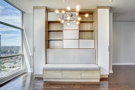 Space Solutions  Dining Room Custom Builtin Wall Unit