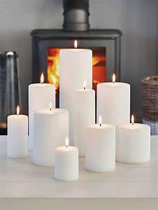 White, Pillar, Candles