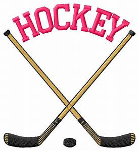 Hockey Cross Sticks Embroidery Design | AnnTheGran