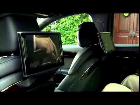 audi  rear seat entertainment system youtube
