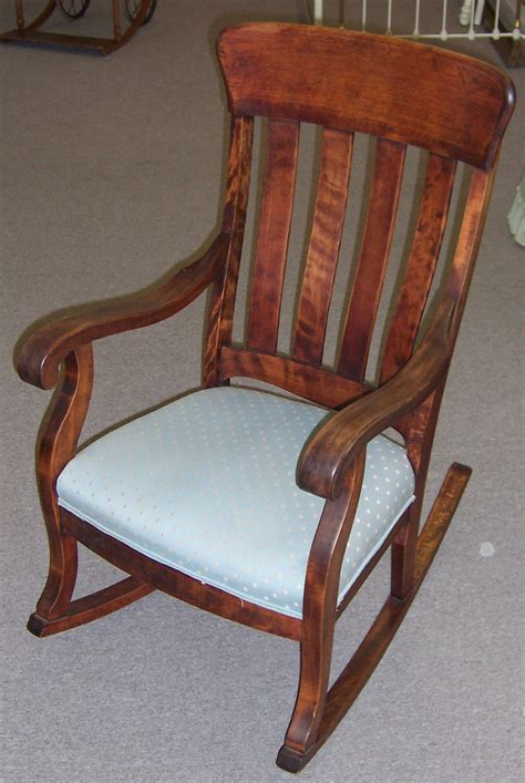 antique upholstered rocking chair antique furniture