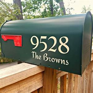 redressed traditional style mailbox decals With mailbox letters