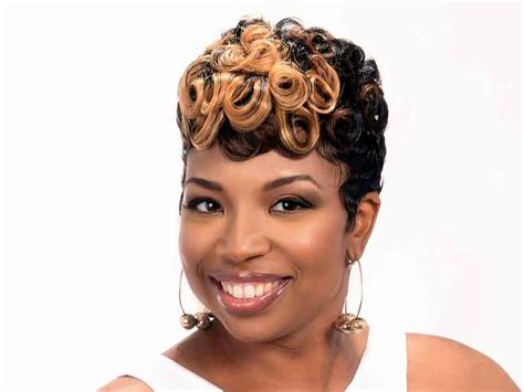 Short Hairstyle with Pin Curls and Color from Leona Burns