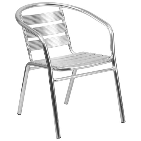 heavy duty aluminum outdoor restaurant arm chair stackable