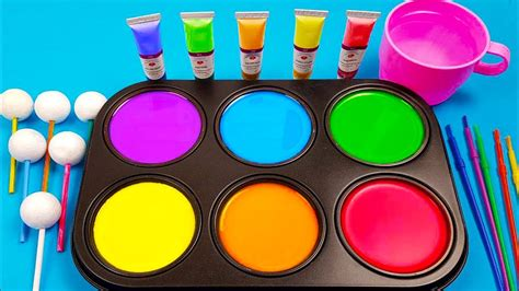 how to make frozen paint with colors tube videos youtube