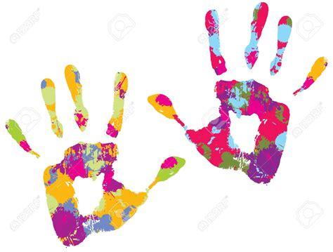 Handprint Clipart Finger Paint
