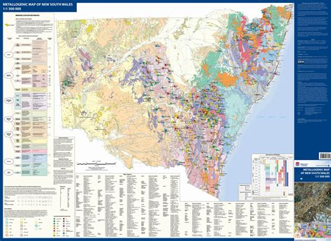 1:1 500 000 Metallogenic Map of NSW - NSW Resources and Energy
