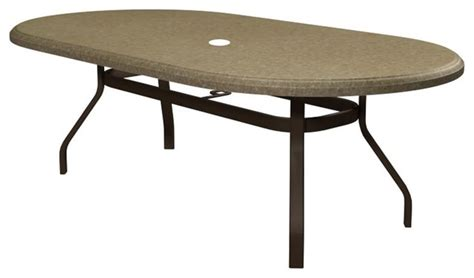 homecrest faux granite oval patio dining table 684467dfg
