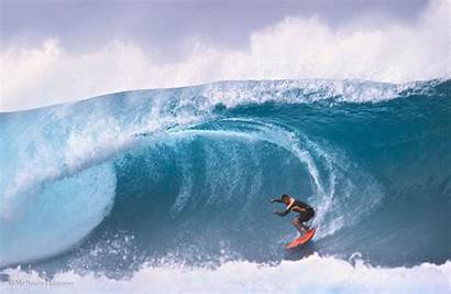 Barrel Surfboard Waves Surfer Wave Spray Surfing