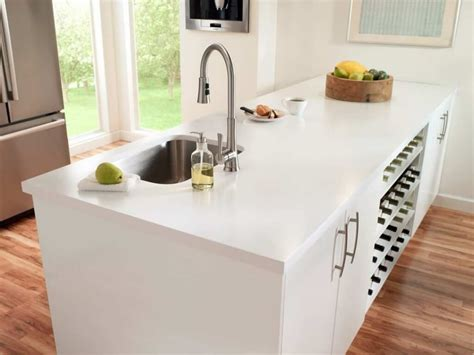 Solid Surface Countertops An Easy Care Kitchen Option. Country Style Small Kitchens. Furniture Islands Kitchen. Small Kitchen Makeovers. White Countertop Kitchen Design