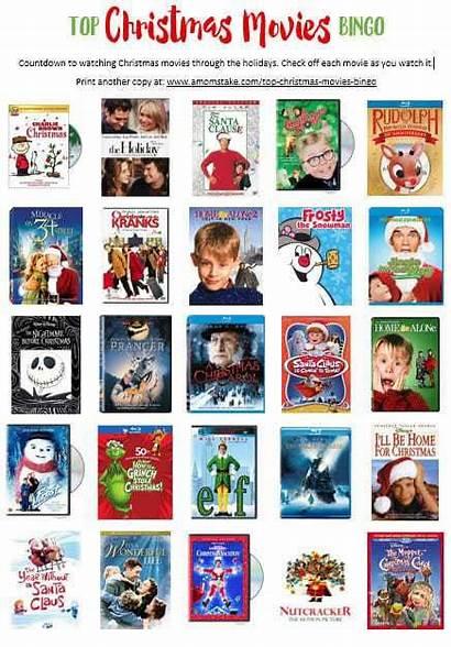 Christmas Movies Bingo Printable Take Favorite Holiday