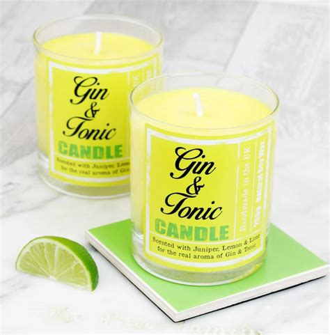 berry scented candles gin and tonic scented candle gift by hearth heritage