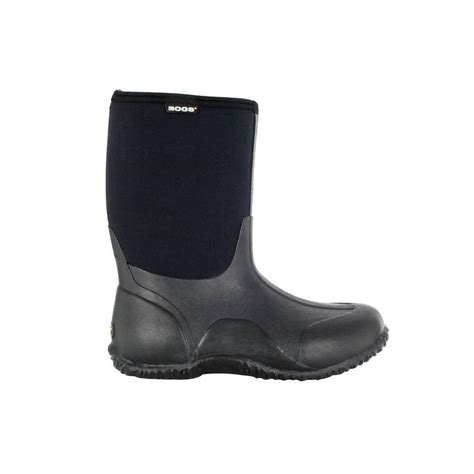 bogs classic mid 10 in size 10 black rubber with