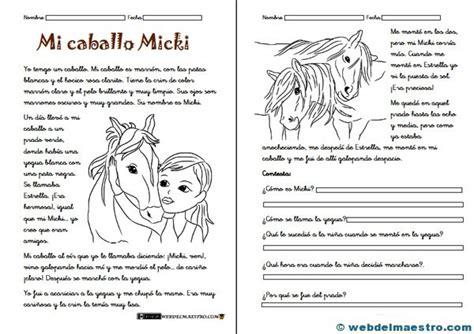 Fichas De Comprensión Lectora  Web Del Maestro