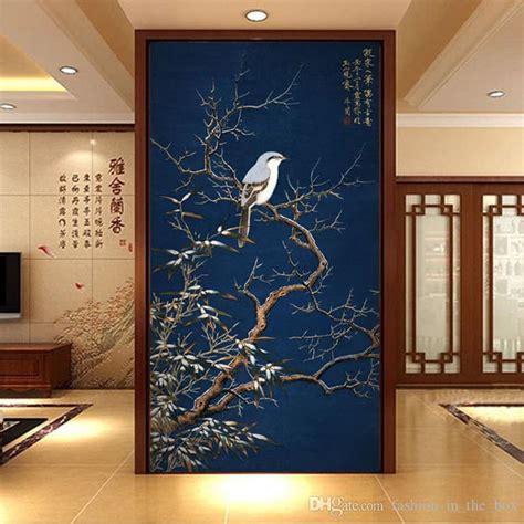 vintage  wallpaper flowers birds wall mural chinese