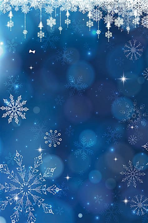 Blue Snowflake Background by Blue Snowflake Background Material Blue
