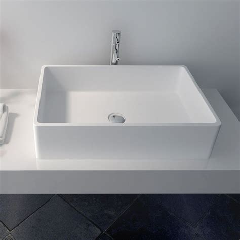 vasque a poser vasque 224 poser en r 233 sine rectangulaire 60x40 cm min 233 ral