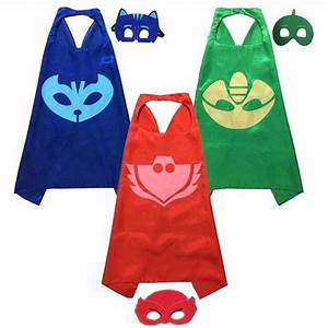 Set of 12 PJ Cape and Mask, Superheroes with Mask ...