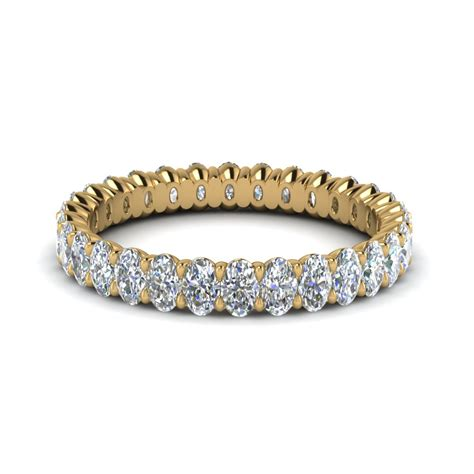 ct oval diamond eternity band   yellow gold