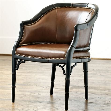 marena upholstered leather chair ballard designs
